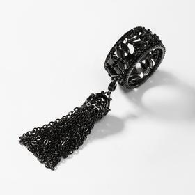 """Кольцо """"Кисточки"""" тьма, цвет чёрный, размер 19"""
