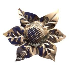 Клипса для штор на защёлке «Цветок», цвет серебряный