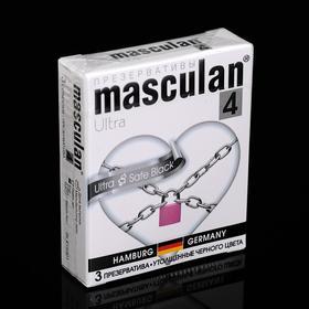 Презервативы Masculan 4 Ultra 3 шт ультрапрочные