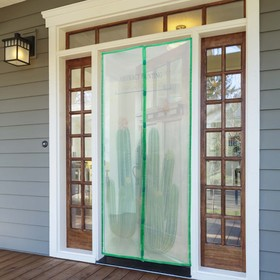 Сетка антимоскитная на магнитах «Кактусы», 100×210 см