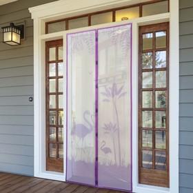 Сетка антимоскитная на магнитах «Фламинго», 90×210 см