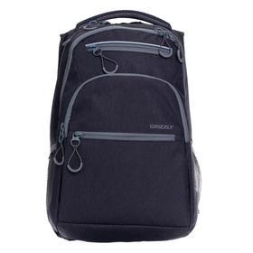 Рюкзак молодежный, Grizzly RU-131, 43x31x20 см, эргономичная спинка, отделение для ноутбука, тёмно-серый