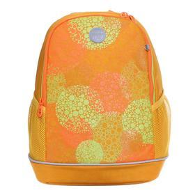 Рюкзак школьный, Grizzly RG-163, 38x28x18 см, эргономичная спинка, «Круги»