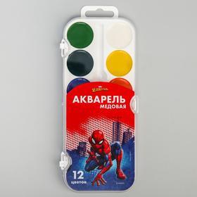 Акварель медовая «Человек-паук», 12 цветов, без кисти