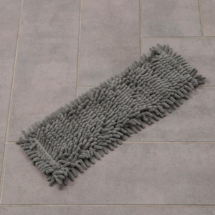 Насадка для плоской швабры Доляна, 41×12 см, микрофибра букля, 80 гр, цвет серый