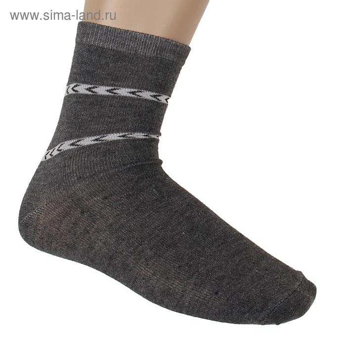 "Носки мужские ""Collorista basic"", размер 43-46, цвет т.-серый СЖ007"