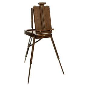 Этюдный ящик с телескопическими ножками, 370 х 560 х 160 мм, «Малевичъ», винтаж, чёрный