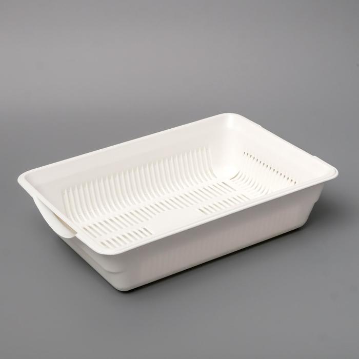 Туалет глубокий с сеткой, 36 х 26 х 9 см, белый - быстрая доставка