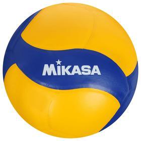 "Мяч вол. ""MIKASA V390W"", р.5, синт.кожа (ПУ), 18 пан., оф. парам. FIVB,клееный, бут.кам, жел"