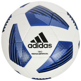 Мяч футбольный ADIDAS Tiro Lge Art, размер 4, ТПУ, 32 панелей, термосшивка, цвет белый/синий