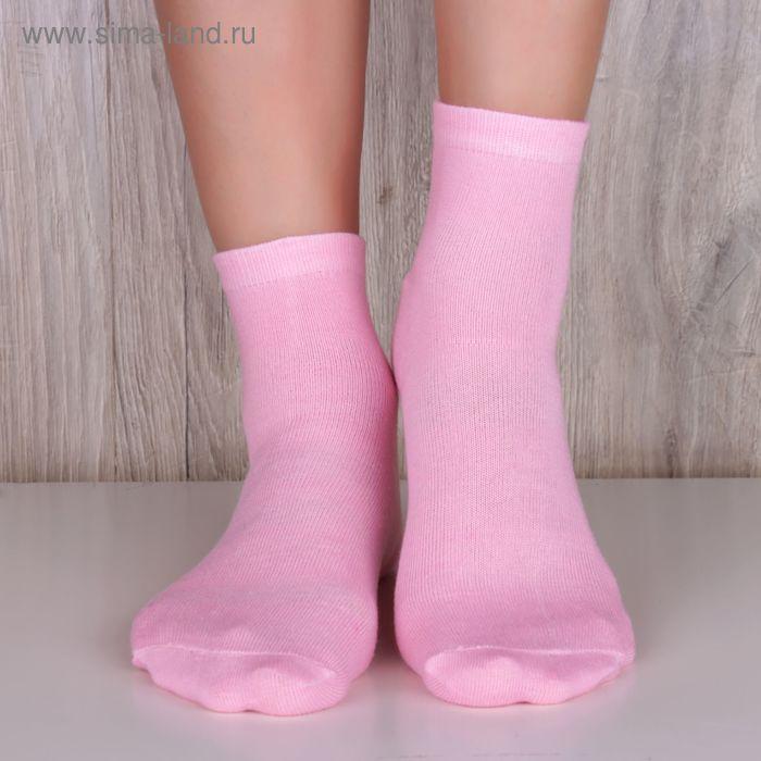 """Носки женские """"Collorista basic"""" БГ розовый, р.36-39, 85%хлопок, 10%па, 5%эластан"""