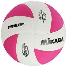 Мяч волейбольный MIKASA VSV800 P, размер 5, ТПЕ, клеенный, 8 панелей, бутиловая камера, цвет белый/розовый