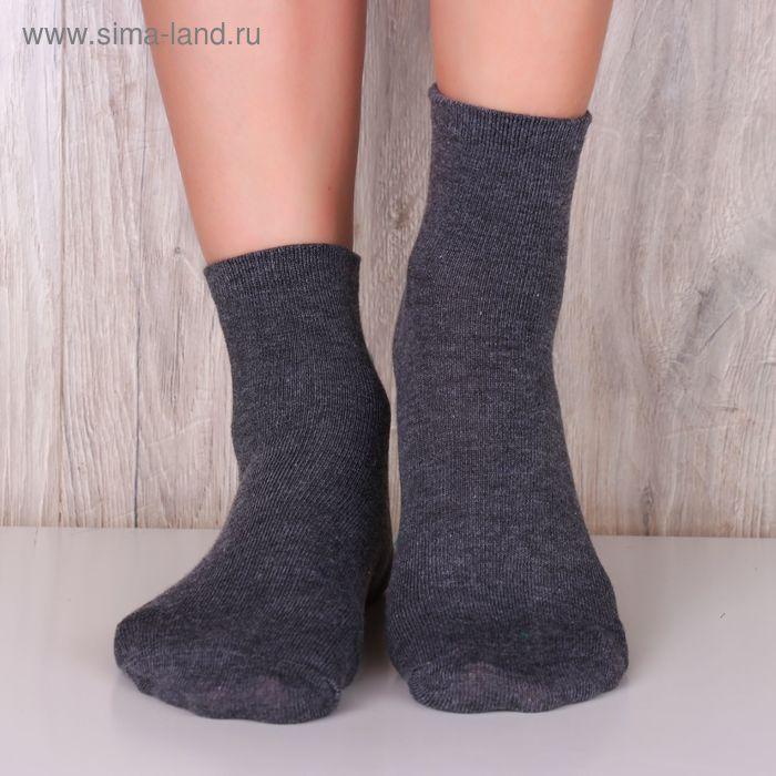 """Носки женские """"Collorista basic"""" СГ серый, р.36-39, 85%хлопок, 10%па, 5%эластан"""
