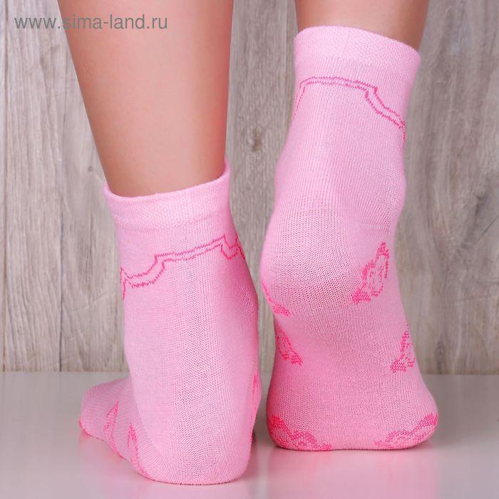 """Носки женские """"Collorista basic"""" СЖ016 розовый, р.36-39, 85%хлопок, 10%па, 5%эластан"""