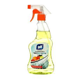 """Средство для мытья стекол и зеркал """"Help"""" Цитрусовая свежесть с распылителем 0,5 л"""