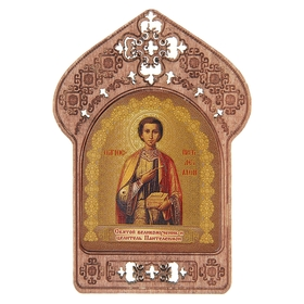 """Icon """"St. Panteleimon"""". Assistance and protection of doctors and sick"""