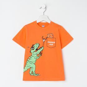Футболка для мальчика, цвет оранжевый, рост 110 см (5 лет)