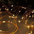 """Гирлянда """"Нить"""" 20 м роса, IP20, медная нить, 200 LED, свечение тёплое белое, фиксинг, 12 В - фото 7390171"""