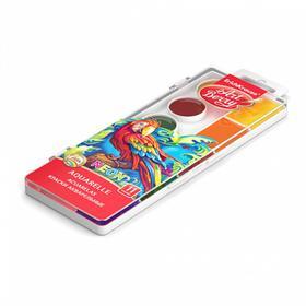 Акварель 11 цветов, ErichKrause, неоновая, с УФ-защитой яркости, с увеличенными кюветами XXL, пластик, без кисти, европодвес - фото 7439923