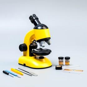 """Микроскоп """"Юный ученый"""" кратность до х1200, желтый, подсветка"""