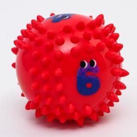 Развивающий массажный мячик 6 сторон «Цифры» d=9 см, твёрдый - фото 7275837