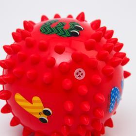 Развивающий массажный мячик 6 сторон «Цифры» d=9 см, твёрдый - фото 7275838
