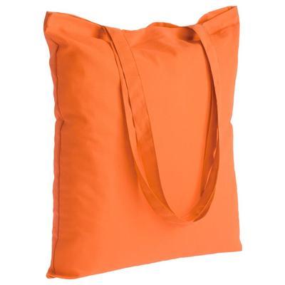 Холщовая сумка Optima 135 оранжевая, 41х44 см; ручки: 74х2,5 см