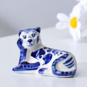 """Сувенир Тигр """"Ефим"""", 8,5 см, гжель"""