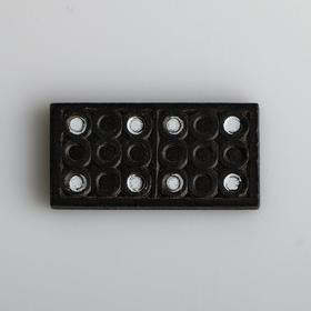 """Домино """"Время игры"""", деревянное, кость 3.9х2 см, 14.7х5х2.7 см"""