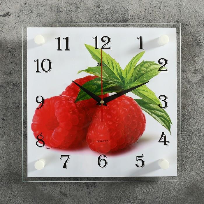 "Часы настенные, серия: Кухня, ""Малина"" микс 25х25 см"