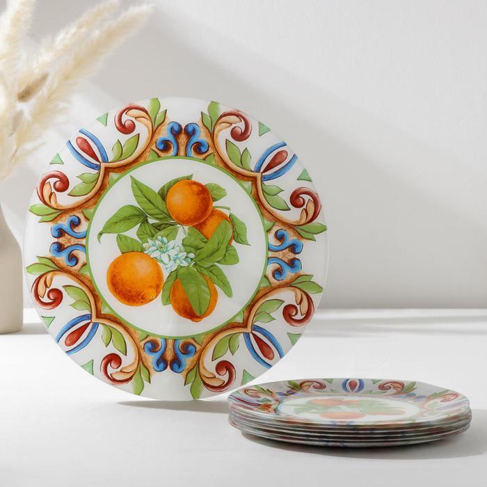 Набор столовый Vellarti «Южный колорит», 7 предметов: 30 см - 1 шт, 21,5 см - 6 шт, в подарочной упаковке - фото 728170