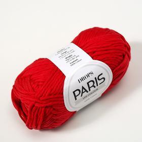 """Пряжа """"Paris"""" 100% хлопок 75м/50гр (12 красный) - фото 7294171"""