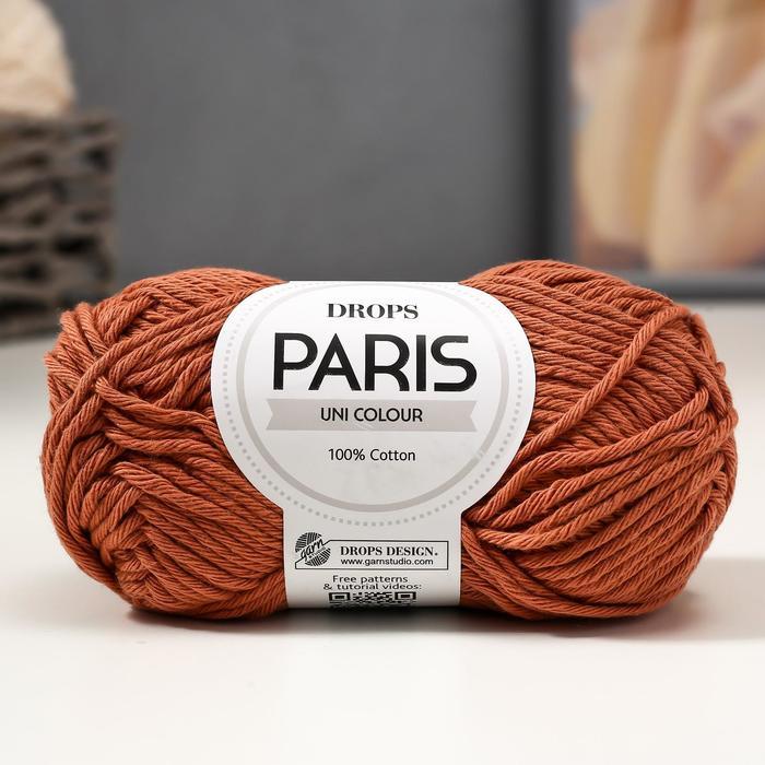 "Пряжа ""Paris"" 100% хлопок 75м/50гр (65 ржавчина) - фото 7294218"
