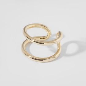 """Кольцо """"Модерн"""" линии, цвет золото, безразмерное"""