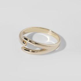 """Кольцо """"Тренд"""" три линии, цвет золото, безразмерное"""