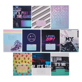 """Тетрадь 18 листов в линейку """"MIX-10. Мальчики"""", обложка мелованный картон, блок офсет, МИКС"""