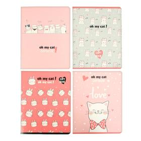 Тетрадь 48 листов в клетку Oh my cat!, обложка мелованный картон, блок офсет, МИКС