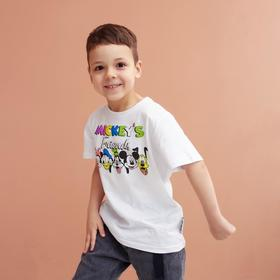 "Футболка детская ""Friends"" Микки Маус, рост 110-116, белый"