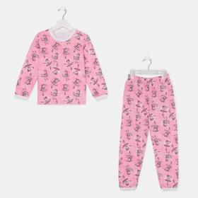 Пижама для девочки, цвет розовый/девочки, рост 92 см