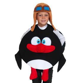 """Костюм карнавальный """"Пингвин ПИН"""" (Смешарики)  дет. р-р XS (3-5 лет, рост 104-116 см, р-р 28"""
