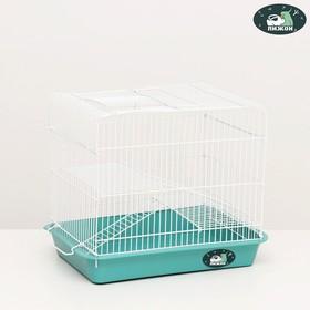 """Клетка для грызунов """"Пижон"""" №3Б, с 2-я этажами, без наполнения, 33 х 24 х 28 см, бирюзовая"""