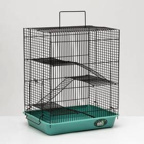 """Клетка для грызунов """"Пижон"""" №9, с 3-я этажами, без наполнения, 33 х 24 х 38 см, бирюзовая"""