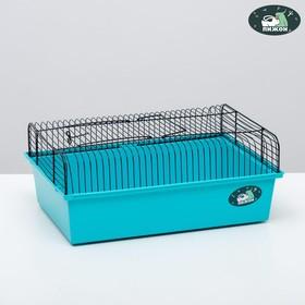 """Клетка для грызунов """"Пижон"""" №10, без наполнения, 37 х 26 х 14 см, бирюзовая"""