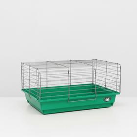 """Клетка для кроликов, морских свинок """"Пижон"""" №6, хром, 58х4 х30 см, изумрудная"""