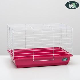 """Клетка для кроликов, морских свинок """"Пижон"""" №14, складная, 58х40х38 см, рубиновая"""