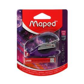 Степлер mini №26/6 Maped COSMIC TEENS MINI + 400 скоб в комплекте, встроенный дестеплер, бл