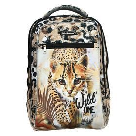 Рюкзак каркасный, Erich Krause ErgoLine 18L, 44 х 29 х 21 см, эргономичная спинка, Wild Cat