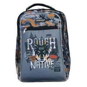 Рюкзак каркасный Erich Krause ErgoLine 44*29*21 мап 18L Rough Native, серый 48349