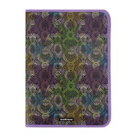 Папка д/тетрадей А4 молния вокруг пластик ErichKrause Purple Python 49289