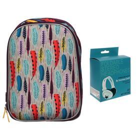 Рюкзак каркасный Seventeen, 39 x 28 x 15 см, эргономичная спинка, EVA, в подарок наушники